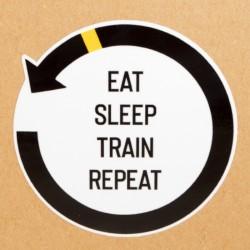 Naklejka eat sleep train...