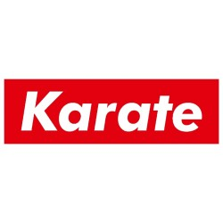 Naklejka karate